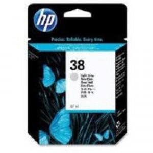 Hewlett Packard No38 Pigment Inkjet Cartridge Light Grey C9414A
