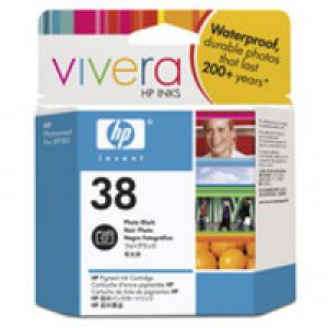 Hewlett Packard No38 Pigment Inkjet Cartridge Photo Black C9413A