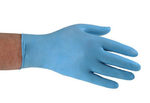 Polyco Nitrile Food Preparation Gloves Powder-free Large Size 8.5 Blue Ref GL8953 [Pack 100]