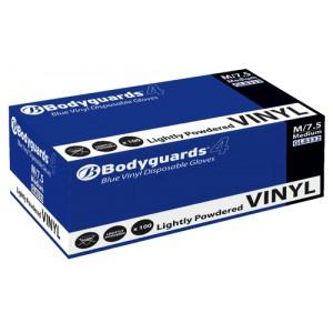 Polyco Blue Grip Vinyl Gloves Medium Blue Ref GL8332 [Pack 100]