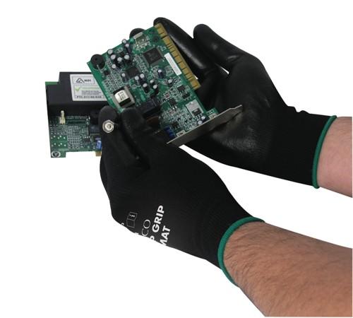 Polyco Matrix P Grip Gloves Polyurethane Tight-fit Size 9 Black Code 403-MAT