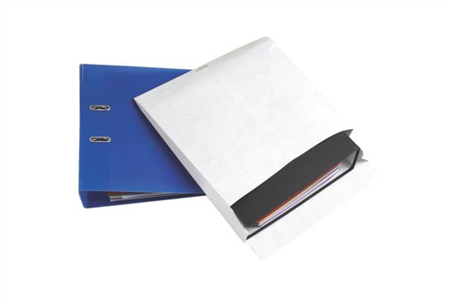 Tyvek Mailing Envelope for Storing Lever Arch Files H318xW326xD68mm Ref 990244 [Pack 50]
