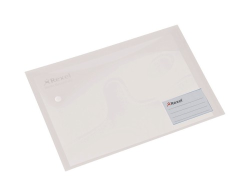 Rexel Carry Folders Xtra Landscape Extra Back Pocket and Card Holder A4 White Ref 2101161 [Pack 5]