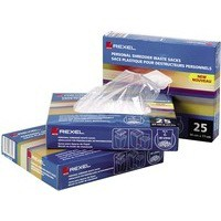 Rexel Multi Fit Waste Sacks For Destroyer Shredder WS2H Box 50 Code 40014