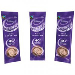 Cadbury Chocolate High Lights Fairtrade Hot Chocolate Powder Sachets Low Calorie Ref A07590 [Pack 30]