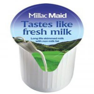 Millac Maid Milk Jiggers Long Life Full-Fat 14ml Ref A01982 [Pack 120]