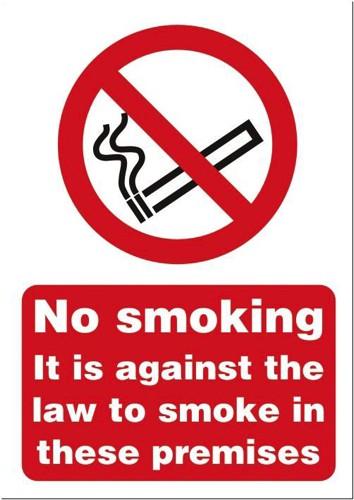 Stewart Superior Sign No Smoking A4 Self-adhesive Vinyl Ref SB004