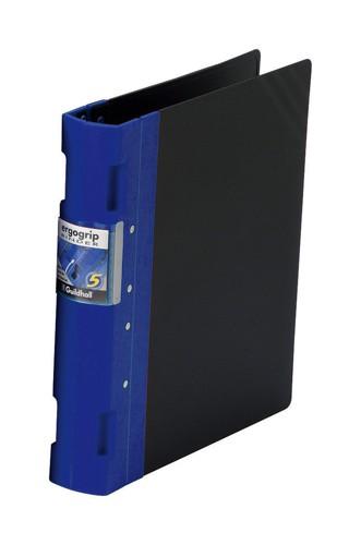 Guildhall GLX Ergogrip Binder Capacity 400 Sheets 4x 2 Prong 55mm A4 Blue Ref 4532Z [Pack 2]