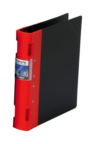 Guildhall GLX Ergogrip Binder Capacity 400 Sheets 4x 2 Prong 55mm A4 Red Ref 4533Z [Pack 2]