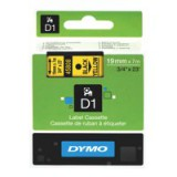 Dymo D1 Tape for Electronic Labelmakers 19mmx7m Black on Yellow Code S0720880