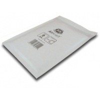 Jiffy Airkraft Postal Bags Bubble-lined Peel and Seal No.4 White 240x320mm Ref JL-4 [Pack 50]