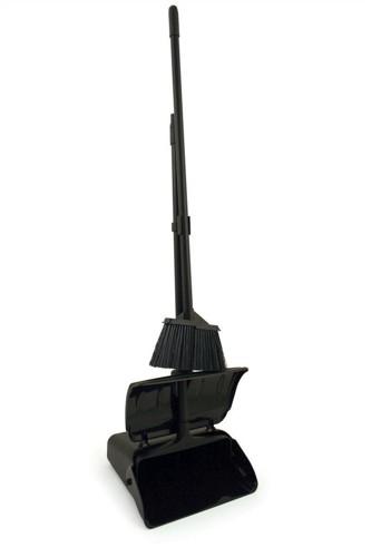 Bentley Heavy Duty Long Handled Dustpan and Brush Set Ref With Lid Black Ref SPC/LDPSET