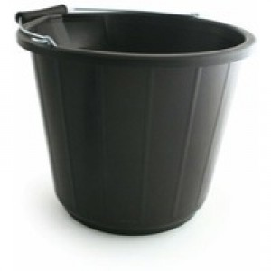 Heavy Duty Buk & Met Hdl 14L Black Code SPC/BUCKET01