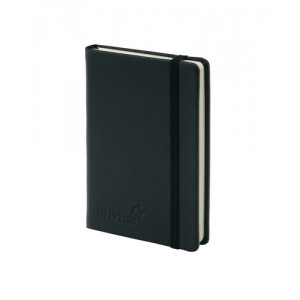 Silvine Executive Soft Feel Pocket Notebook Ruled with Marker Ribbon 160pp 90gsm 143x90mm Black Ref 196BK