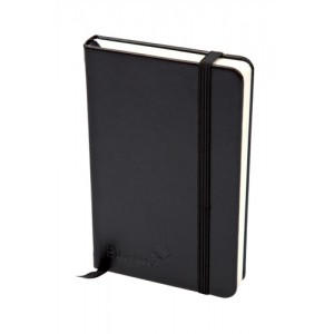Silvine Executive Soft Feel Notebook Ruled with Marker Ribbon 160pp 90gsm A5 Black Ref 197BK