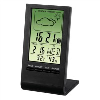 Image for Hama TH-100 Thermometer/Hygrometer LCD Digital Display Weather Station Ref 75297