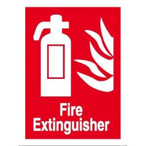 Stewart Superior Sign Self-adhesive Vinyl - Fire Extinguisher - 200x150mm Ref NS013