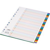Concord Plastic Index Polypropylene 120 Micron Europunched 1-31 A4 Assorted Ref 66699