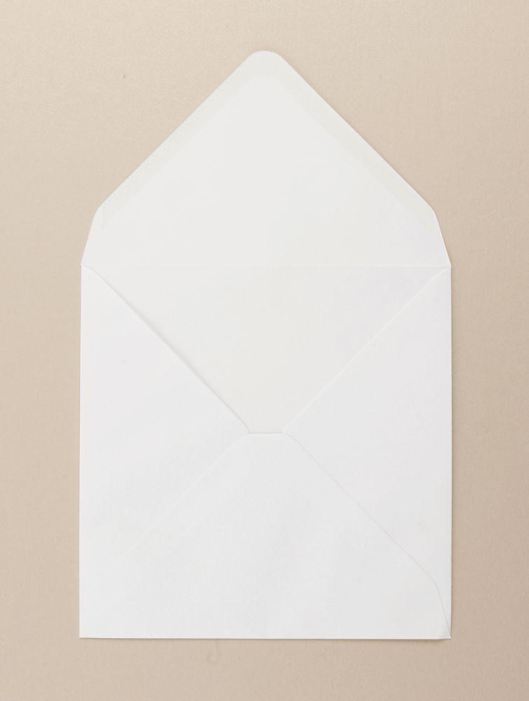 White Greeting Card Env Diamond Flap 164 x 164mm  100gsm Gummed Bx 500