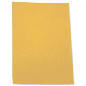 5 Star Square Cut Folder Recycled Pre-punched 250gsm A4 Yellow [Pack 100]