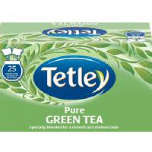 Tetley Tea Bags Pure Green Tea Individually Wrapped Ref 1293A [Pack 25]