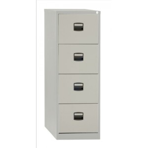 Trexus Filing Cabinet Steel Lockable 4-Drawer W470xD622xH1321mm Grey