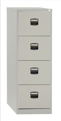 Trexus 4 Drawer Filing Cabinet Grey