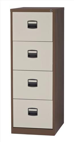 Trexus 4 Drawer Filing Cabinet Cof/Cream