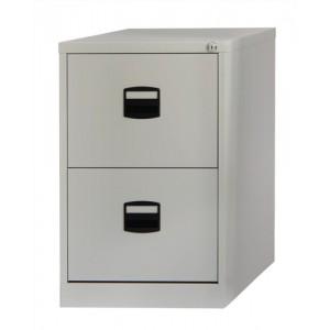 Trexus Filing Cabinet Steel Lockable 2 Drawer W470xD622xH711mm Grey