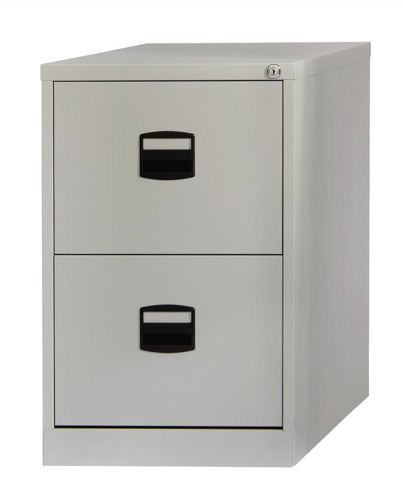 Trexus 2 Drawer Filing Cabinet Grey