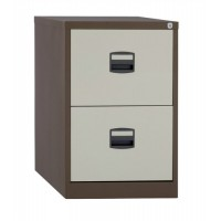 Image for Trexus Filing Cabinet Steel Lockable 2-Drawer W470xD622xH711mm Brown and Cream
