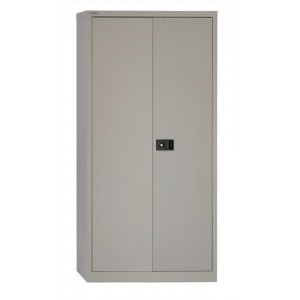 Trexus Storage Cupboard Steel 2-Door W914xD400xH1806mm Grey
