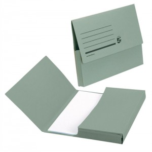 5 Star Document Wallet Fcap 285gm Green
