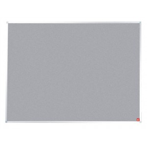 5 Star Noticeboard with Fixings and Aluminium Trim W1800xH1200mm Grey