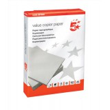 5 Star Value Copier Paper Multifunctional Ream-Wrapped 80gsm A4 White [500 Sheets]