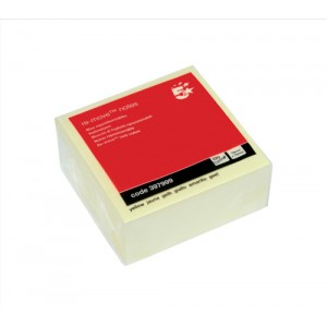 5 Star Re-Move Notes Cube Pad of 320 Sheets 76x76mm Yellow