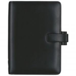 Filofax Metropol Personal Organiser for Paper 95x171mm Personal Black Ref 026902