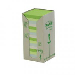 3M Post-it Recycled Pastel Pads Pack of 16 654-1RPT