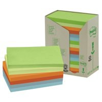 3M Post-it Recycled Rainbow Pads Pack of 16 655-1RPT