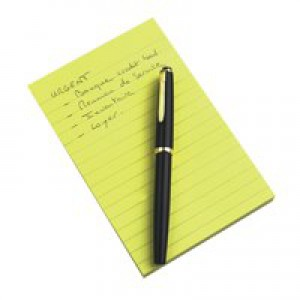 3M Post-it Note Pad 102x152mm Ruled Feint Yellow 660