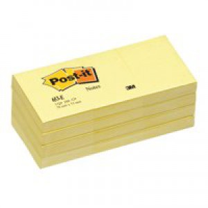 3M Post-it Note Recycled 38x51mm Canary Yellow 653-1
