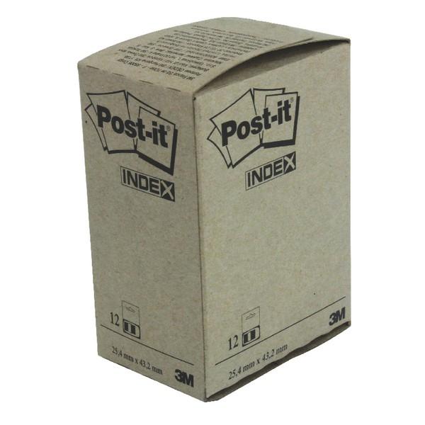 3M Post-it Index Tab 25mm Blue 680-2 PK12