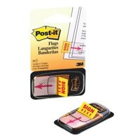 3M Post-it Index Tab 25mm Sign Here 680-31