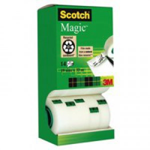 3M Scotch Magic Tape 19mm x33 Metres Pack of 12 Rolls/2 FOC