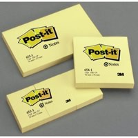 3M Post-it Note Recycled Carton of 655 Yellow Pads Pack of 16