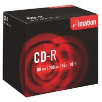 Imation CD-R 700Mb/80minutes 52X Jewel Case Pack of 10 18644
