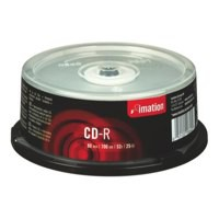 Imation CD-R 700Mb/80minutes 52X Spindle Pack of 25 18646