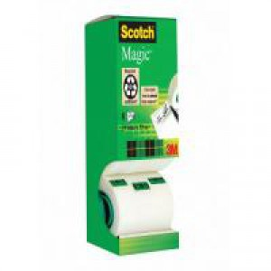 Scotch Magic Tape Tower Pack 19mm x 33m Pack of 8 8-1933R8