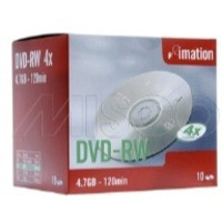 Imation DVD-RW Rewritable Disk Cased 4x Speed 120min 4.7GB Ref i21061 [Pack 10]