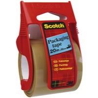 *3M Scotch V-EX23 Packaging Tape Easy Start Dispenser 50mm x 20Metres Clear E.5020D